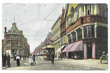 High St, Leicester PPC, 1905 Local PMK, W Grand Clothing Hall & Hoggetts Tailors