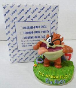 "Six Flags Baby Taz ""Wanna Play"" Figurine NIB 5"""