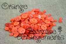 ORANGE - Mixed Bulk Buttons 250+ Craft Scrapbooking Bouquet Mixed Colours