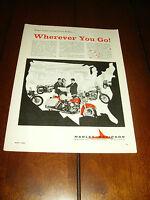 1963 HARLEY DAVIDSON MOTOR CO. MILWAUKEE   ***ORIGINAL AD***