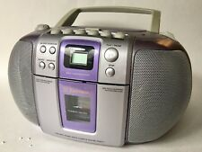 Emerson Digital CD Player Cassette Boombox PURPLE  Radio Stereo 2001 PD6511WP