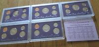 1989 1990 1991 1992 1993 Proof Set U.S. Mint 5 Sets San Francisco Mint