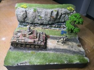 1/35th 1/48th built Landscape and Rock and Streams track diorama.(Only Diorama).