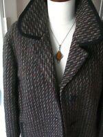 Ladies EASTEX TWEED WOOL COAT JACKET BLAZER UK 16 100% pure new wool purple