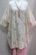 "MASAI Tunic Dress 70"" Bust Soft Floral Cotton Sizes 20 22 24+ PLUS SIZE L/XL/XXL"
