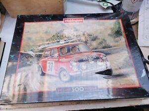 Classic Mini cooper, Monte Carlo, Paddy Hopkirk rally, rare puzzle. Robin Owen