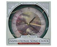 "Thomas Kinkade Bridge of Faith Art on 8"" CLOCK, Plays Amazing Grace on the Hour"