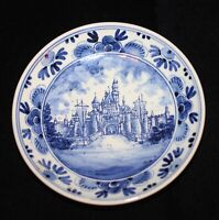 Disneyland 1956 Delft Blue Ceramic Pottery Walt Disney Gouda Delfts Blauw Castle