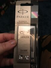 Parker Quink Cartridge Classic Ink Refill Standard Black Ink BRAND NEW SEALED