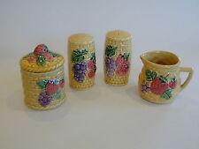 Beautiful Vintage Japanese collection of  basketware Salt & Pepper, Milk, Sugar