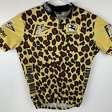 Giordana Tour DuPont cycling jersey size L large Made in Italy leopard print '93