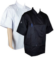 More details for unisex quality chef jacket short half sleeves with pen pockets chefwear coat