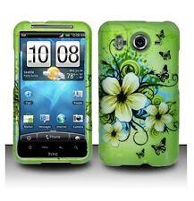 Design Rubberized Hard Case for HTC Inspire 4G - Green Hawaiian Flower