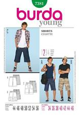 BURDA SEWING PATTERN MENS SHORTS BEACH HOLIDAY  SIZE 34 - 46 7381