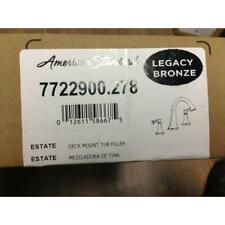 "AMERICAN STANDARD 7722900.278 ""ESTATE"" DECK MOUNT TUB FILLER, LEGACY BRONZE"