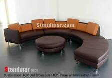 5PC NEW MODERN ROUND SECTIONAL MINT LEATHER SOFA S506T