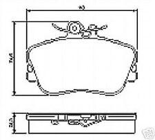 Plaquette de freins,couverture freins devant F. DB,MERCEDES CLASSE C,C W202,S202