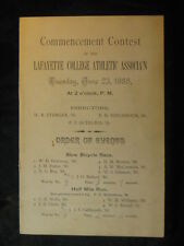 1885 Layfayette College Track and Field Event Scorecard 4 Pages
