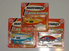 Helicopter Rescue Burger King Promotional White & Red & Yellow Lot of Three