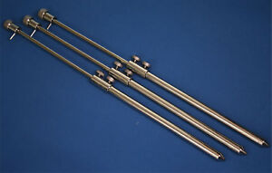 3 x Stainless steel carp/pike bank sticks best on ebay