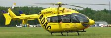 EC-135 ADAC Air Rescue Eurocopter Helicopter Mahogany Kiln Wood Model Small New