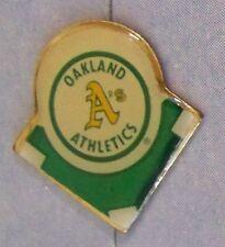 Oakland Athletics A's green diamond lapel pin light scuffs marks c27778 MLB bb