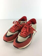Ermenegildo Zegna Leder Kombination Niedrig-Schnitt Rot Sneaker Von Japan