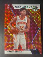 De'Andre Hunter 2019-20 Mosaic Orange Reactive Rc Rookie Card Atlanta Hawks Rare