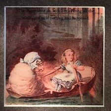 Alice In Wonderland Coaster Ceramic Tile With John Tenniel Illustrations