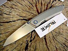 RUIKE knives P831-SF Satin Stainless framelock folding knife 14C28N blade 58-60c