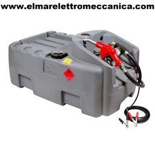 Pompa Travaso Gasolio 12 V + Serbatoio 200 Lt + Pistola Wortex UNIT DCC 12V 200L