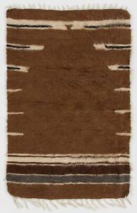 2.8x4.2 Ft Soft Mohair Wool Kilim Rug. Floor Covering & Wall Hanging, Bed Cover