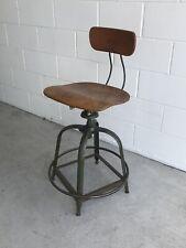 Vintage Industrial Toledo UHL Stool Machine Age Drafting Chair Factory Original