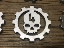WarHammer Objective Markers - Cog Mars Skull - Stainless Steel - 30mm
