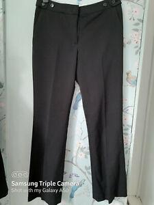 Trousers Size 18 S W38 L29 smart grey pinstripe pockets workwear BNWOT
