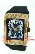 Richard Mille Rm016 Rose Gold Automatic Extra Flat Full Diamond Case Skeleton