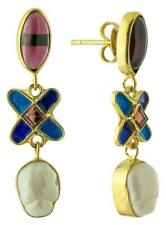 Philomena Garnet and Pearl Earrings: Museum of Jewelry