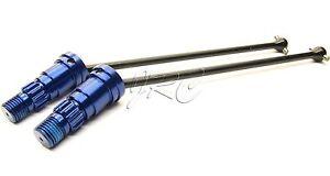 X-MAXX DRIVE Shafts (Frt or Rr 8s driveshafts & BLUE Stub Axles Traxxas 77086-4