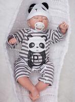 20'' Cute Reborn Sleeping Handmade Lifelike Boy Silicone Vinyl Newborn
