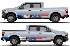 American flag Eagle Bald patriot Wrap rocker panel side sticker Decal fits F150