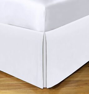 """Space Maker QUEEN Extra-long Bedskirt White 21"""" Drop J0Z184"""