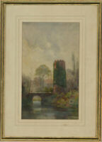 Robertson - Signed & Framed Early 20th Century Watercolour, The Ivy Tower