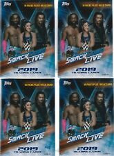 (4) 2019 Topps WWE SMACKDOWN Live! Wrestling Cards 71c Retail BLASTER Box LOT
