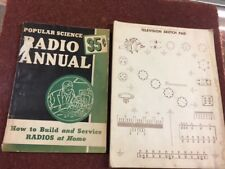 1943 Popular Science Radio Annual~(How to Build Service Radios  Home) Book-J50a