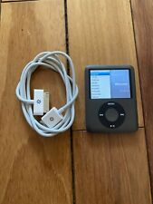 Apple 8GB iPod Nano - 3rd Generation - BLACK -A1236 - Charging cable bundled