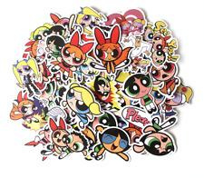 Powerpuff Girls Assorted Skateboard Stickers Lot Of 36 Pieces