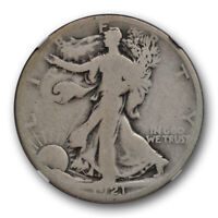 1921 D 50c Walking Liberty Half Dollar NGC G 4 Good Denver Mint Key Date