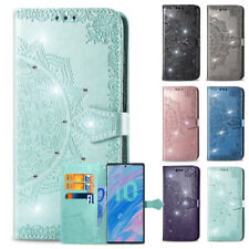 For LG Stylo 4 5 5X 6 Solo LTE  Bling Leather Card Wallet Stand Case SKIN Cover