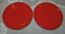 "RACHAEL RAY Double Ridge Salad Plate 8"" RED"