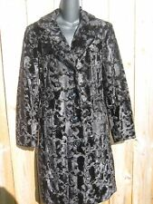 Gallery faux fur  black coat .SIZE M